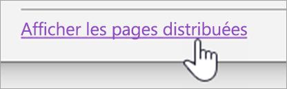 Bouton afficher les pages distribuées