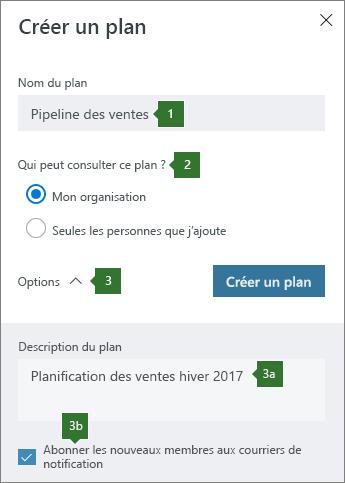 Créer un plan