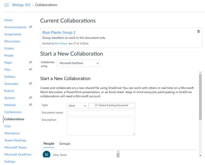 Ajouter une collaboration ou une collaboration actuelle