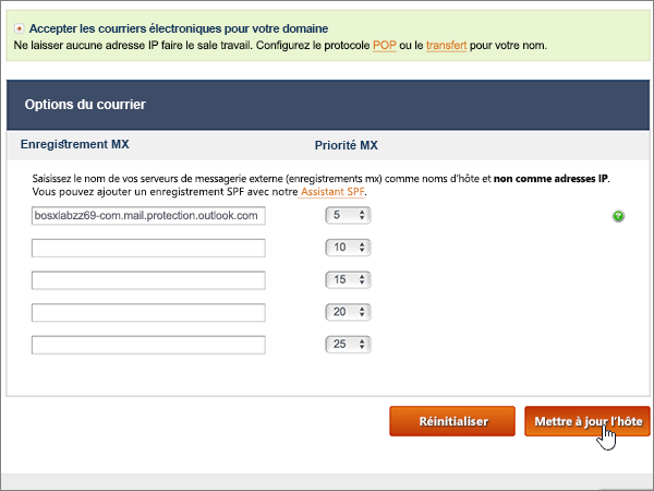 Cr er des enregistrements dns aupr s de noip pour office - Bureau d enregistrement nom de domaine ...
