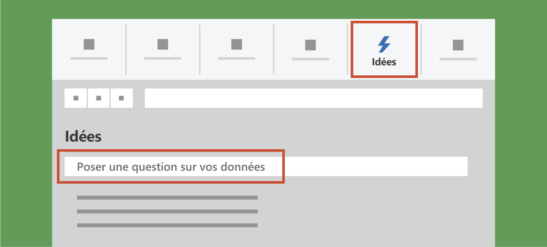 Affiche Analyser les données dans Excel
