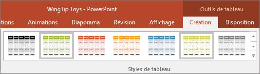 Styles de tableau dans PowerPoint