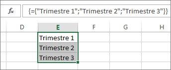 Constante de matrice verticale utilisant du texte