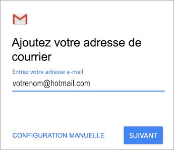 Ajoutez votre adresse de courrier