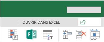 Bouton Modifier dans Excel