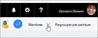 Cliquez sur membres pour une liste déroulante et faire glisser un membre à une tâche