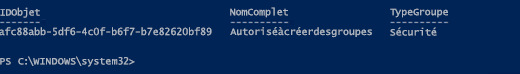 Informations sur le groupe via Azure AD PowerShell