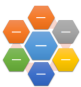 Disposition de graphique SmartArt Hexagone radial