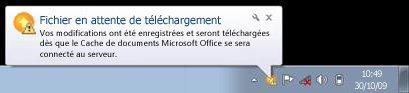 Notification contextuelle du Centre de téléchargement