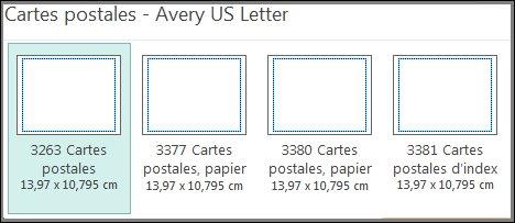 Modèle de carte postale pour cartes Avery US Letter.