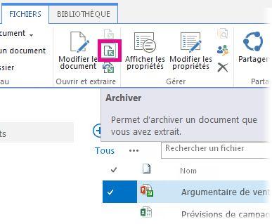 Archiver un fichier