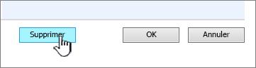 Bouton colonne en bas de la page Paramètres de la colonne supprimer