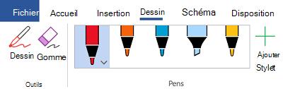 Outils d'entrée manuscrite dans Office 365