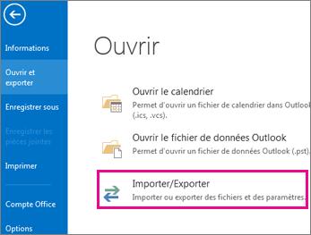 Exportation de fichier