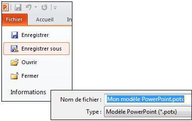 Enregistrer votre présentation en tant que fichier .potx
