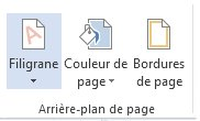 Bouton Ajouter un filigrane dans Word2013