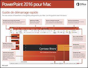Guide de démarrage rapide de PowerPoint2016 pour Mac