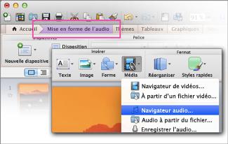 Ouvrir un navigateur audio