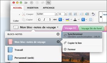 Synchroniser manuellement un bloc-notes