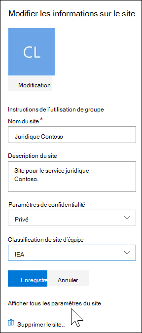 Afficher tous les paramètres du site SharePoint