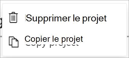 Afficher les fichiers Project