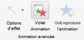 Cliquez sur Volet Animation