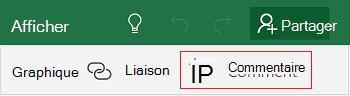 Ajouter un commentaire dans Excel Mobile pour Windows 10