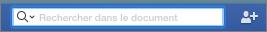 Entrer du texte à rechercher dans le document