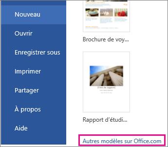 Cliquez sur Plus sur Office.com