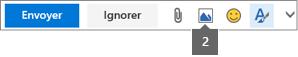 L'icône Insérer une image vous permet d'insérer une image à partir de OneDrive ou de votre ordinateur