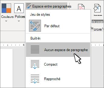 Définir un interligne simple dans un document