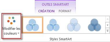 Crer un diagramme de venn support office option modifier les couleurs dans le groupe styles smartart ccuart Image collections