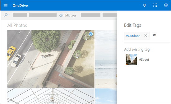 Balises de modifier de OneDrive.