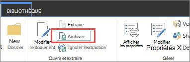 Conseil outil et bouton Archiver un document