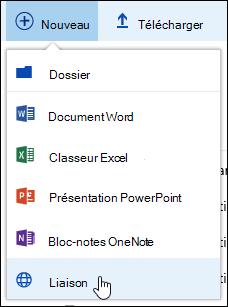 Ajouter un lien vers une bibliothèque de documents