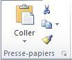 Groupe Presse-papiers sous l'onglet Accueil