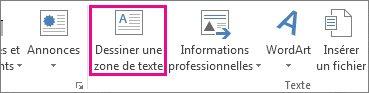 Dessiner une zone de texte