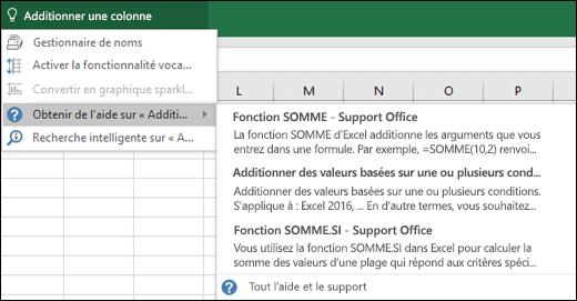 Cliquez sur la zone Rechercher dans Excel et entrez l'action que vous voulez effectuer. La fonctionnalité Rechercher essaiera de vous aider à effectuer cette tâche.