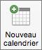 Bouton Nouveau calendrier dans Outlook2016 pour Mac