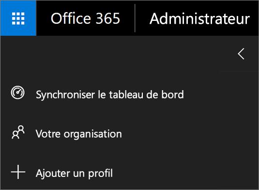 Capture d'écran de l'option Ajouter un profil dans le menu de School Data Sync