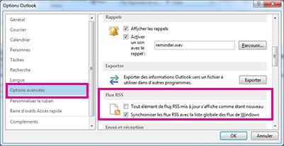 Synchroniser les flux RSS