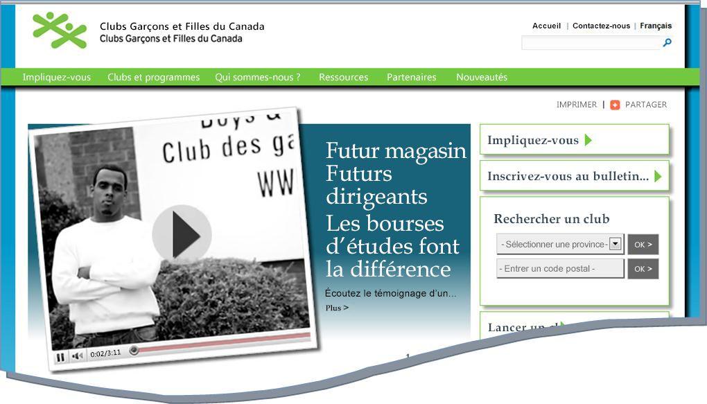 Instantané du site web BGCC
