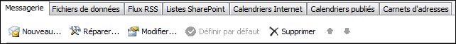 Outlook2010 - Ajouter un nouveau compte