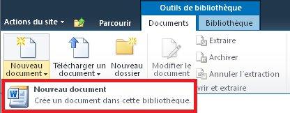 Ajout d'un nouveau document à une bibliothèque de documents