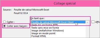 Choisir Microsoft Excel