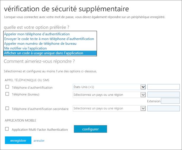 Page Vérification de sécurité supplémentaire