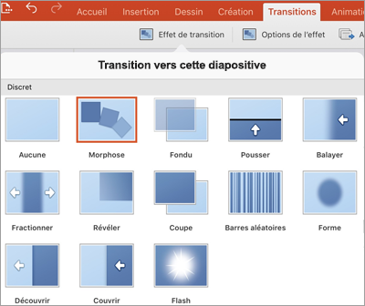 Effets de transition