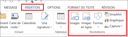 Outlook2013 - Insérer une image