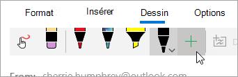 Capture d'écran du bouton Ajouter un stylet