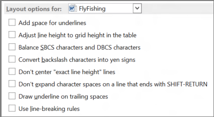 Word 2013 options de mise en page : choix